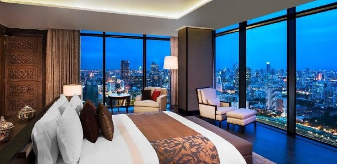 Asian delux hotel, top class panoramic view room