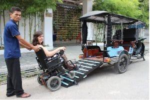 Cambodia for All! Accessible tuk-tuk