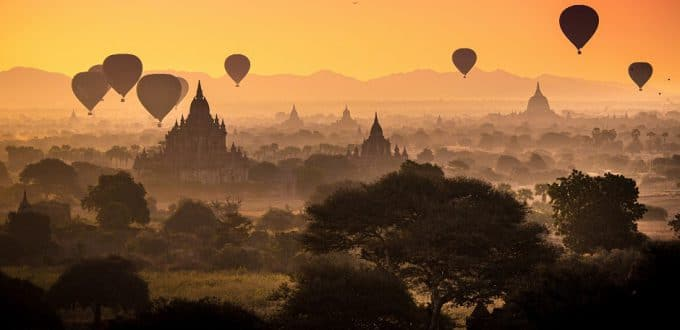Accessible Myanmar Pagan Balloons by