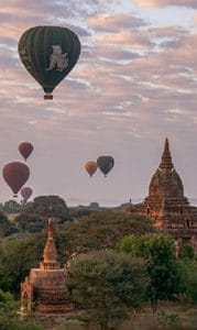 Accessible Myanmar Pagan balloons by Clive Kim