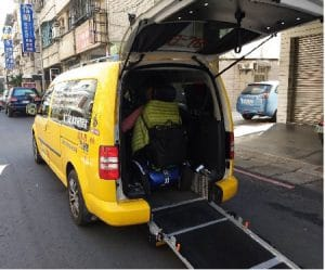 Countries accessible to travelers, Taiwan accessible taxi