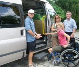 Vietnam accessible to traavelers Van partially accessible