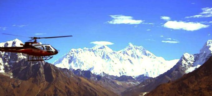 Accessible Nepal Helicopter flight over the Himalayas