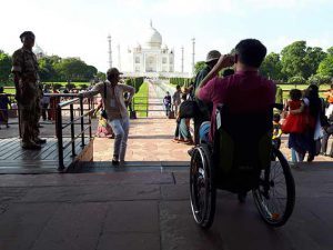 IN Agra TajMahal by wheelchair