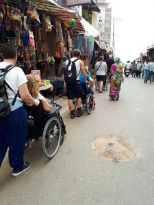 IN Market by wheelchair